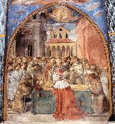 Scenes from the Life of St Francis (Scene 12, south wall) dfhg GOZZOLI, Benozzo